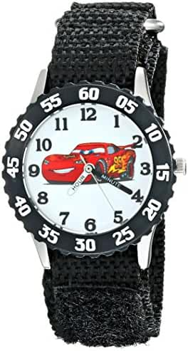 Disney Kids' W001930 Cars Analog Display Analog Quartz Black Watch
